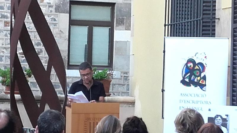 Lectura del Manifest a càrrec de Jordi Martín