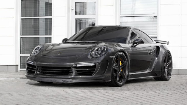 Porsche con carrocería de fibra de carbono: ¡espectacular!