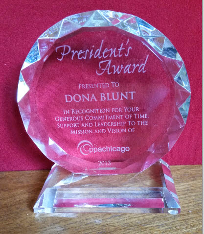 Dona Blunt Winner of Promotional Professionals Association of Chicago's President's Award