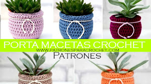 Macetas con Fundas a Crochet / DIY