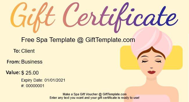 Ubuntu Corner Spa Gift Certificate Voucher