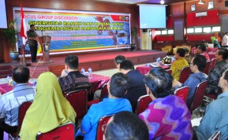 Pada FGD Sinergitas Ranah dan Rantau Wako Pariaman Mukhlis Rahman Tegaskan, Komit Majukan Pariwisata Untuk Kesejahteraan Rakyat.