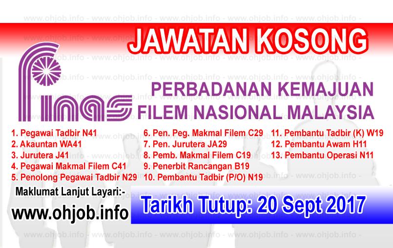 Jawatan Kerja Kosong Perbadanan Kemajuan Filem Nasional Malaysia - FINAS logo www.ohjob.info september 2017