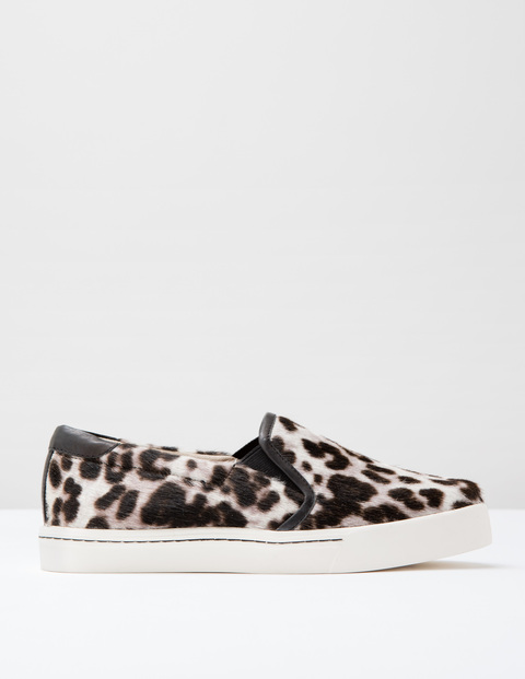 Snow leopard pony slip on trainer, £59.50, Boden