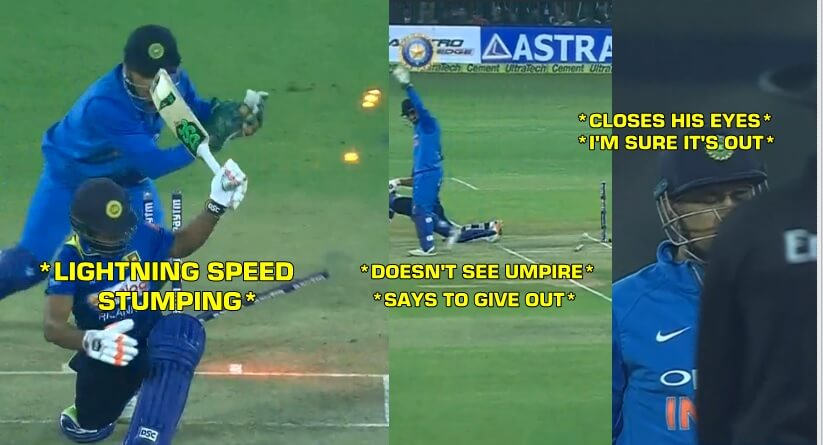 MS Dhoni behind the stumps