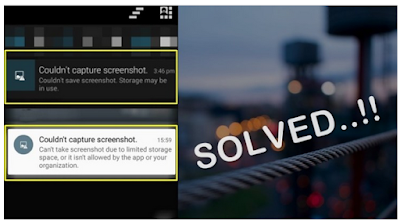 "Tidak Bisa Screenshot di Android, Error ""Couldn't Save Screenshot. Storage May be in Use"""