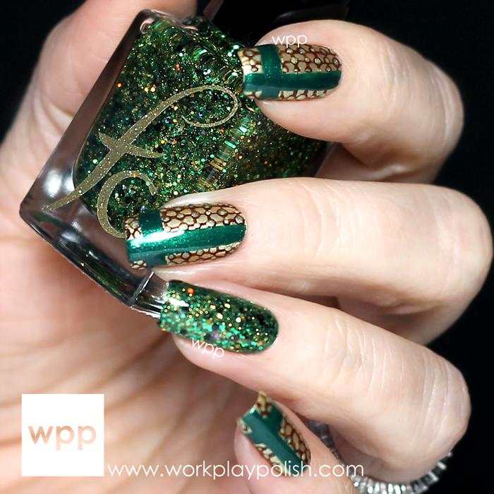 Lacquer Legion Fandom Loki's Scarf Nail Art