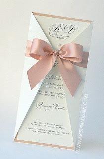 invito fiocco rosa handmade