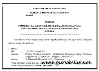 Contoh Format Surat Perjanjian Kerjasama ( SPK )