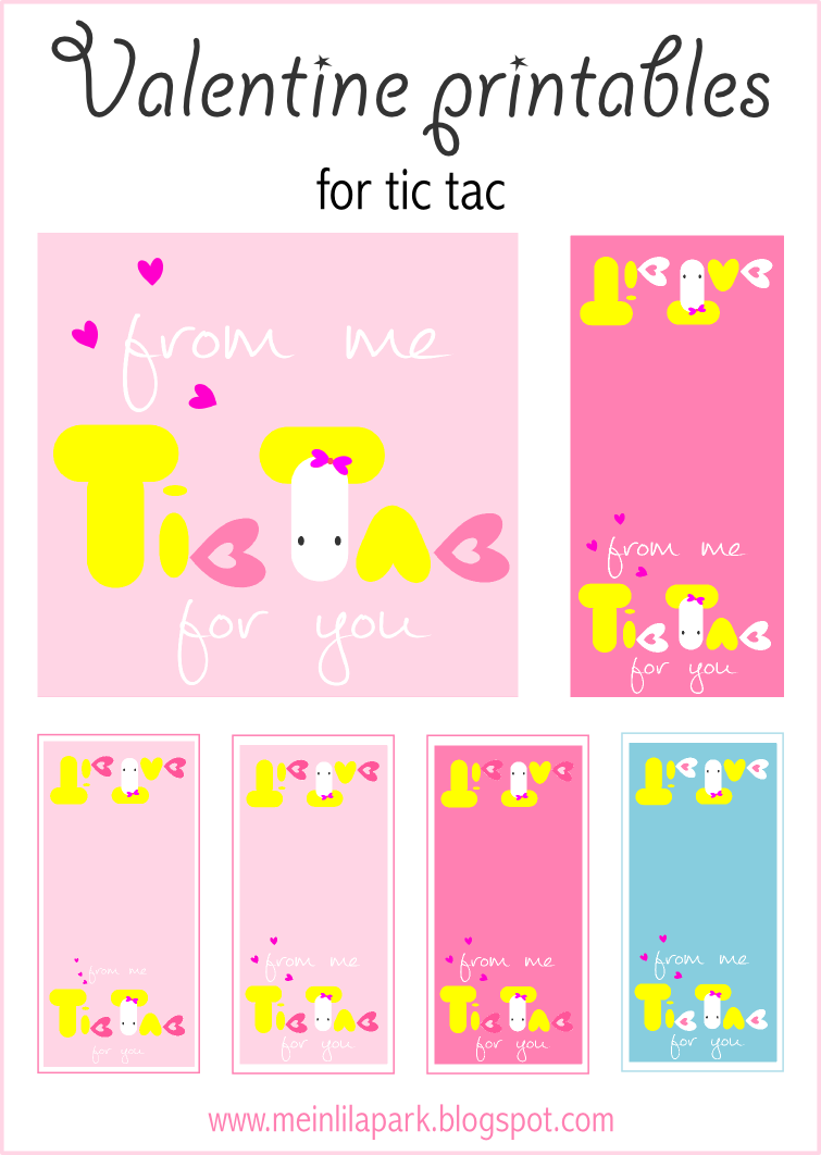 Free Printable Valentine Tic Tac Candy Topper