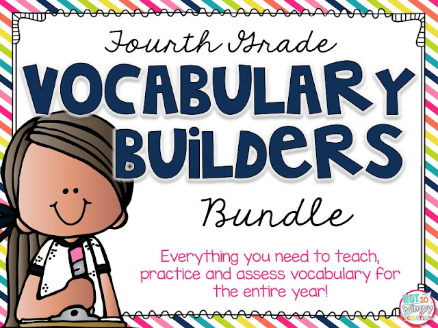Fourth grade vocabulary builders bundle: everything you need to teach, practice and assess vocabulary for the entire fourth grade year.