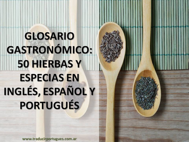 spice, especias, especiarias, gastronomia, traducción, translation, glossário, glossary