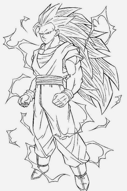 Goku sketch for colouring for Goku ssj coloring pages