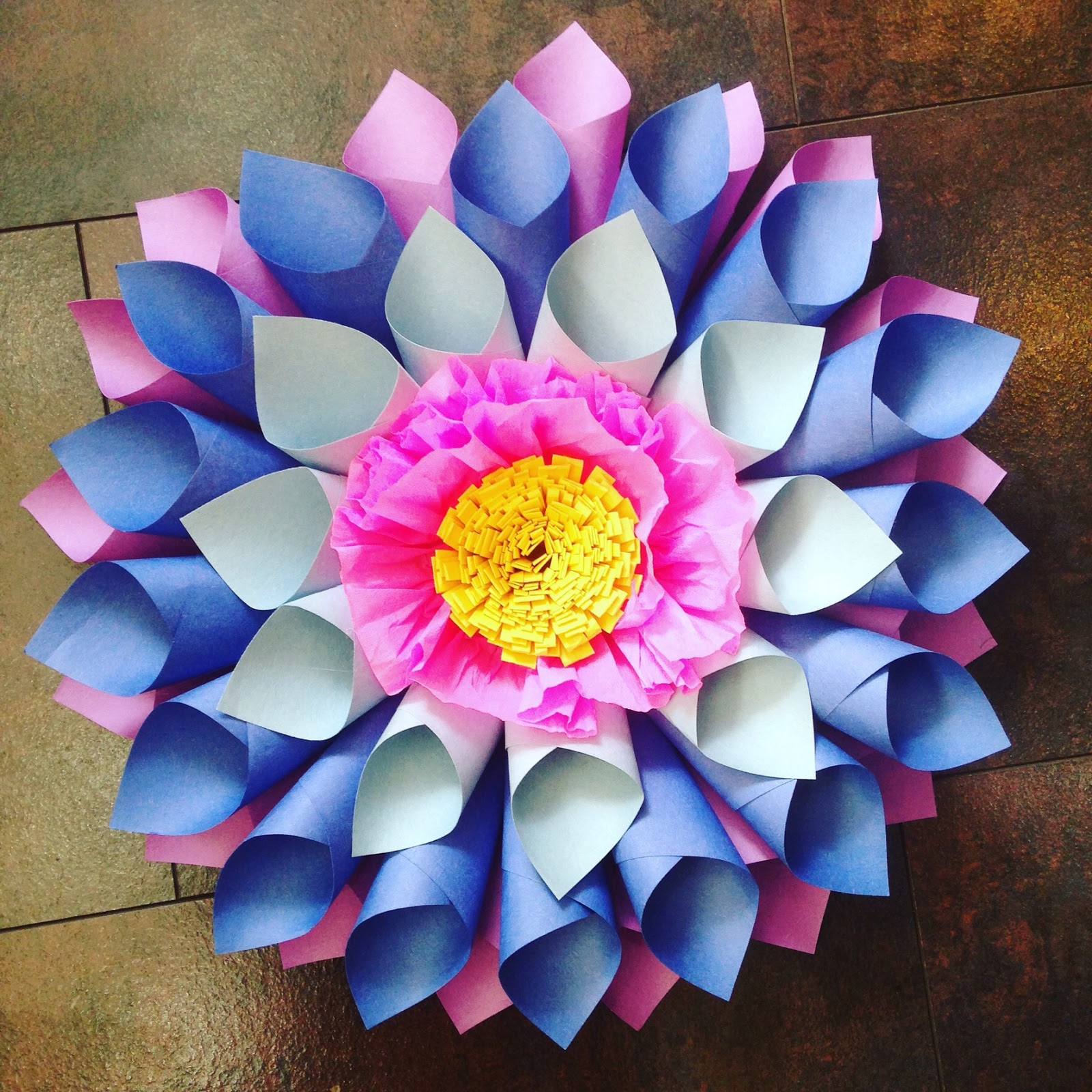 Crafty Ady Making Very Large Paper Flowers