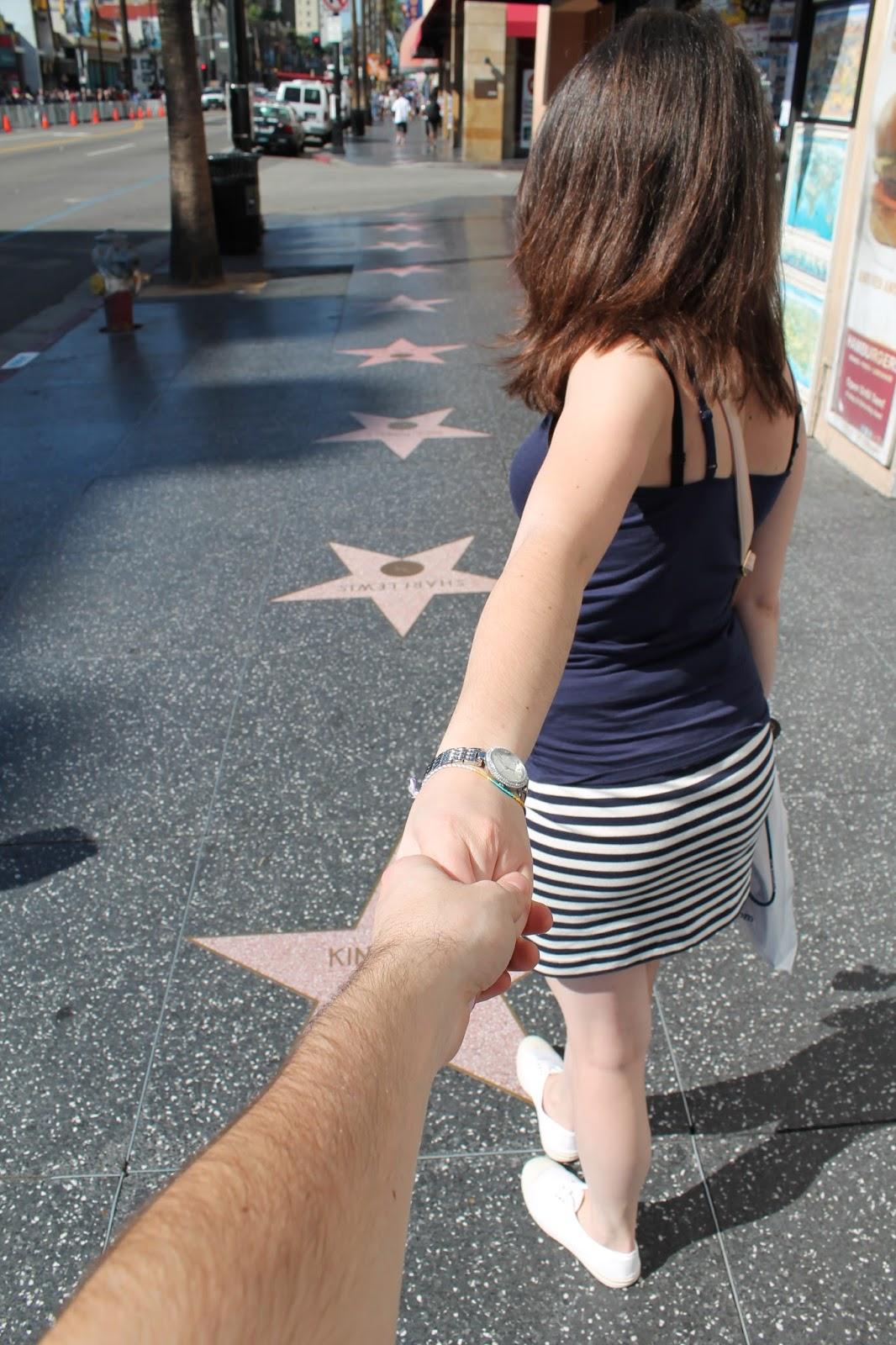 USA états unis amérique vacance transat roadtrip ouest américain holliwood boulevard étoiles stars