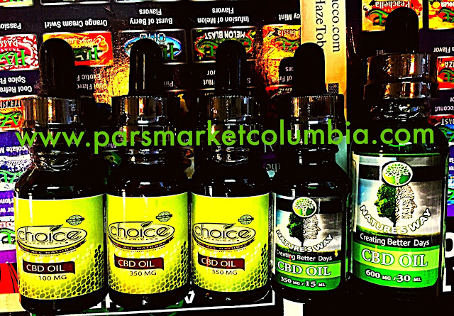 Wide selection of CBD oil available at Pars Market Columbia Howard County Maryland 21045