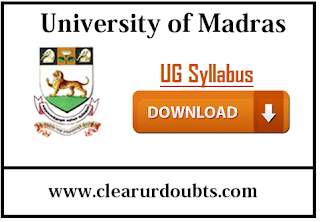 Madras University UG syllabus PDF download