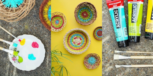 DIY: Funky Bohemian Baskets