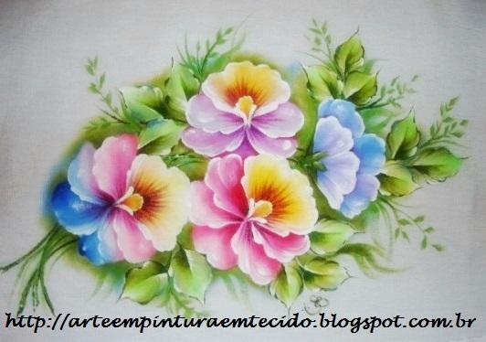 pintura em tecido pano de prato pintado amor perfeito