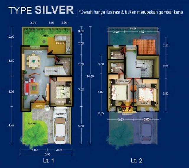 Floor Plan Unit Rumah Di Setiabudi Raya Simpang Pemda Medan