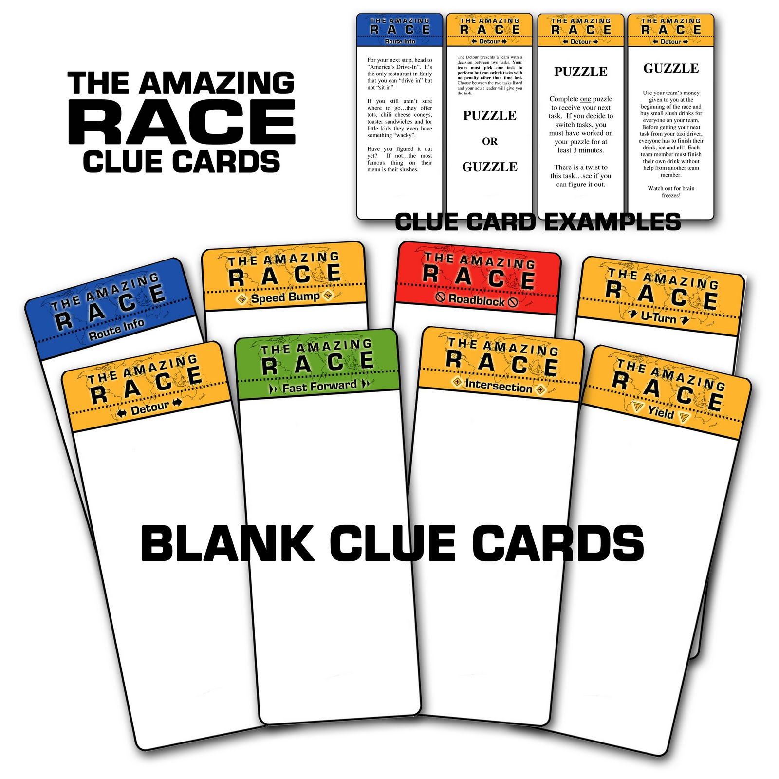 the amazing race clue template - paper perfection free amazing race birthday party