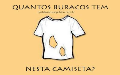 Quantos buracos na camisa?