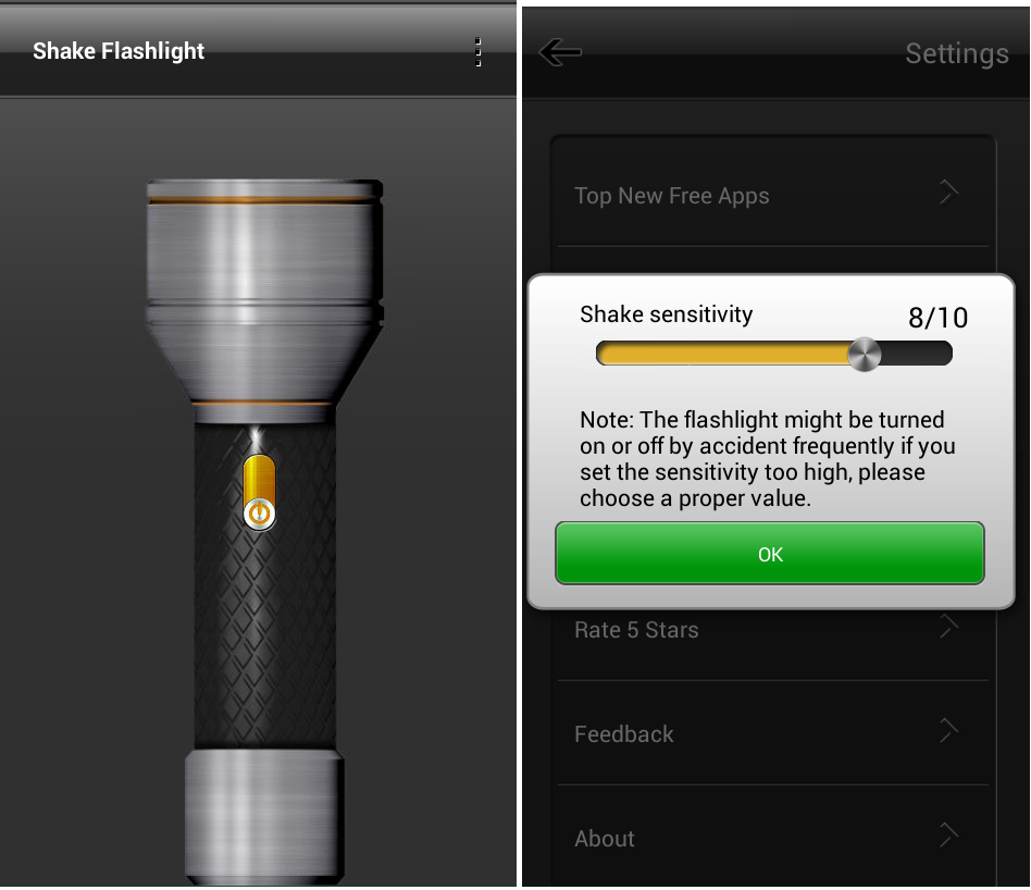 Learn New Things  Shake Phone To Turn On  Off Flashlight  Android Shake Flashlight
