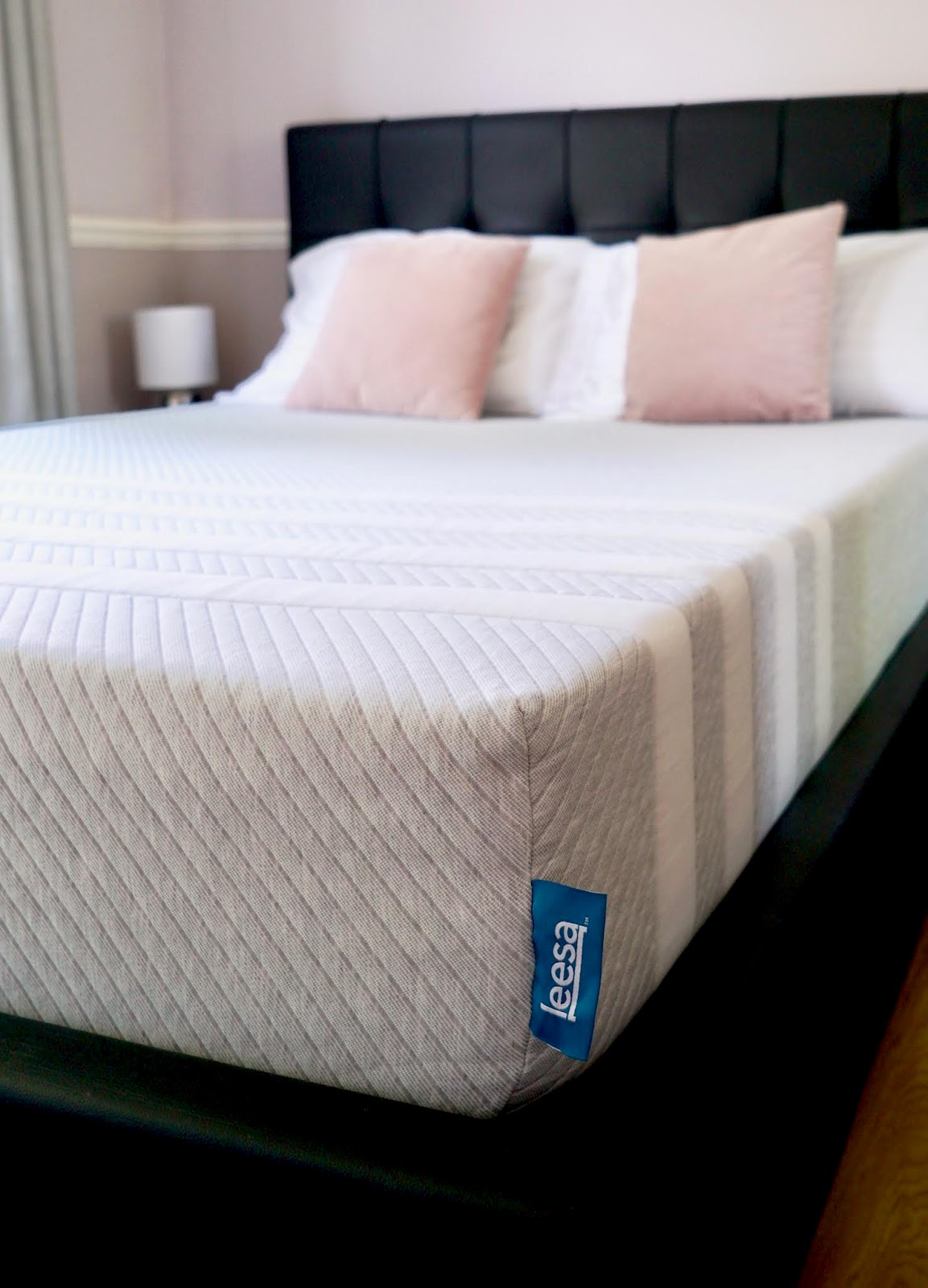 leesa mattress review and trial, good night sleep, photos.