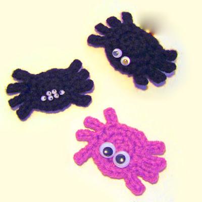 Amvabe Crochet Halloween Spiders