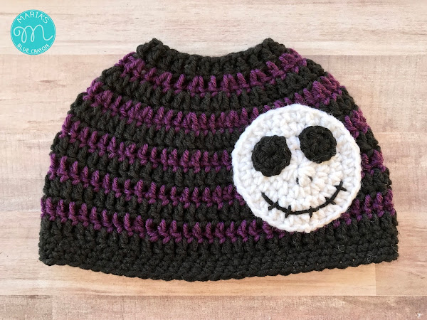 Skeleton Messy Bun Beanie Crochet Pattern
