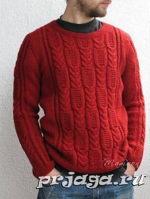 Patrón #1759: Suéter de Hombre a Crochet