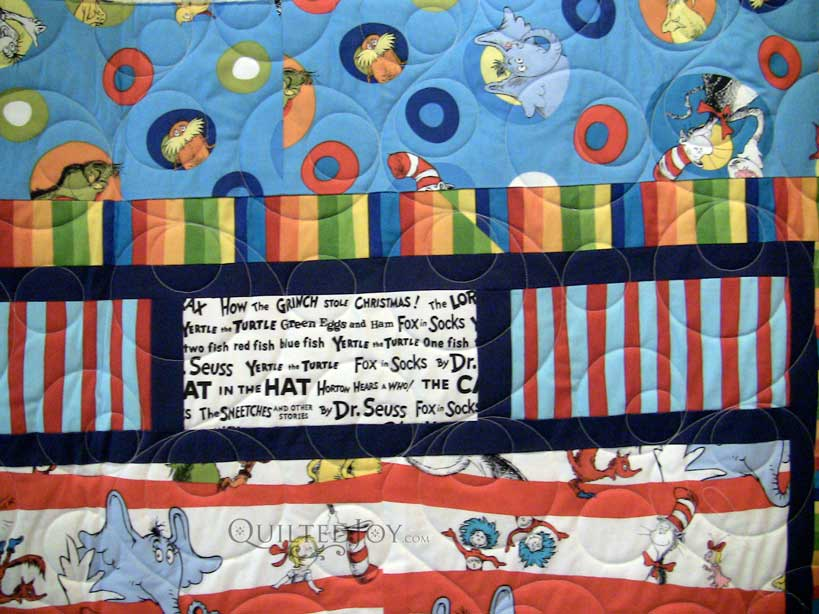 dr seuss quilt with