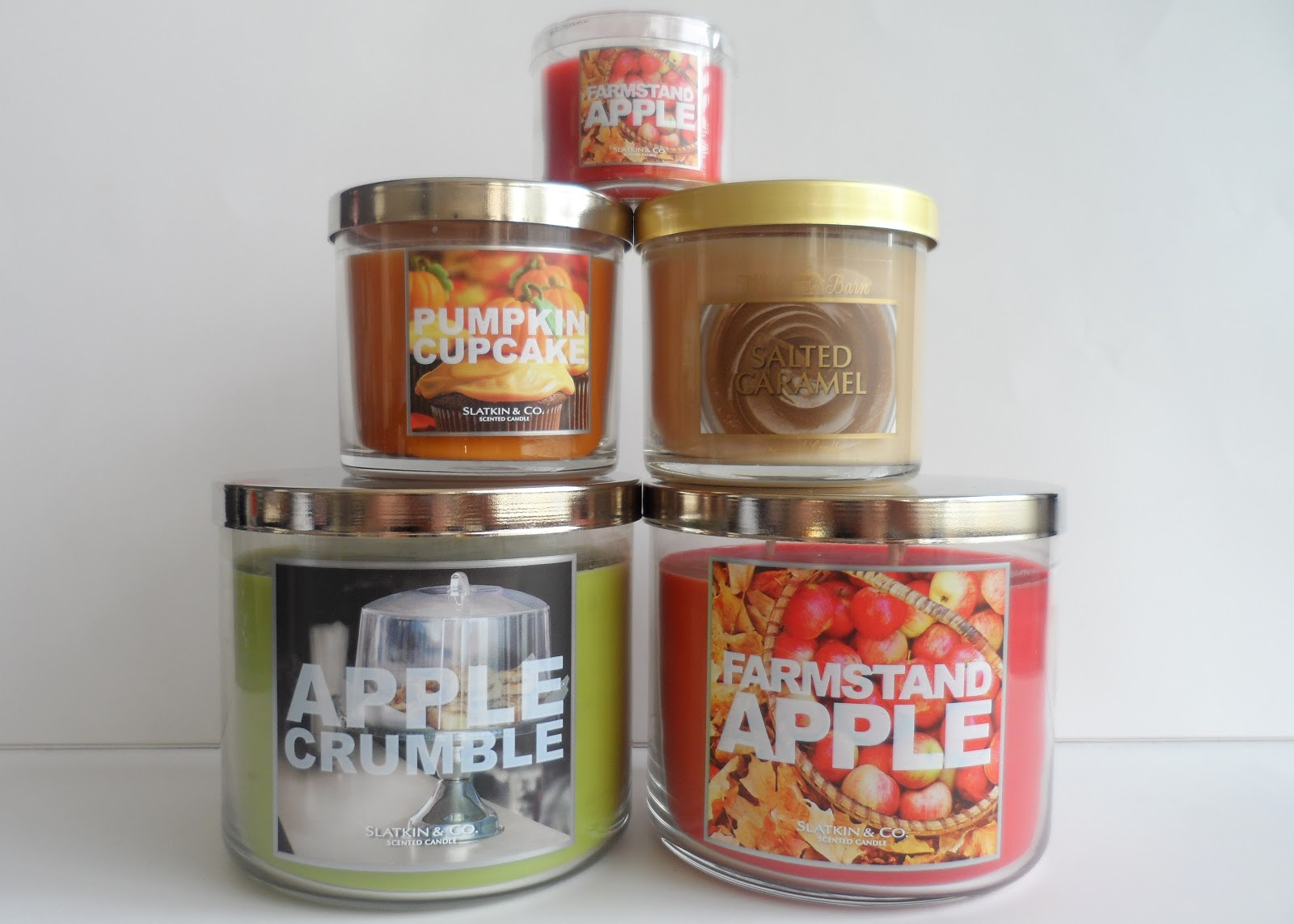 bath and body works slatkin co autumn candle haul flutter and sparkle. Black Bedroom Furniture Sets. Home Design Ideas