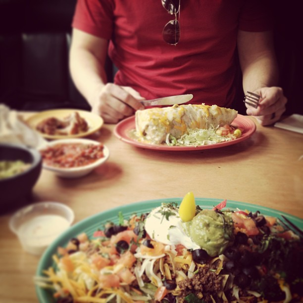 eating out, mexican food