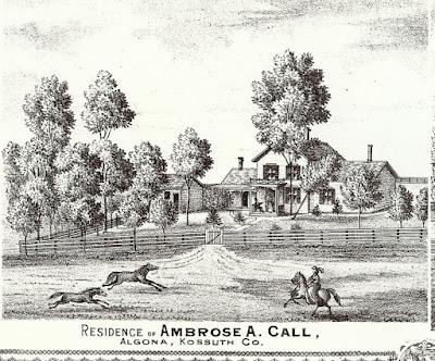 THE HOMES OF AMBROSE A. CALL, PART II - kossuthhistorybuff.blogspot.com