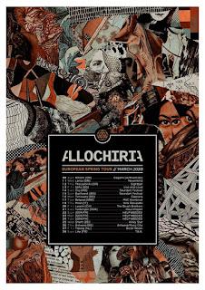 Allochiria European tour, spring 2020
