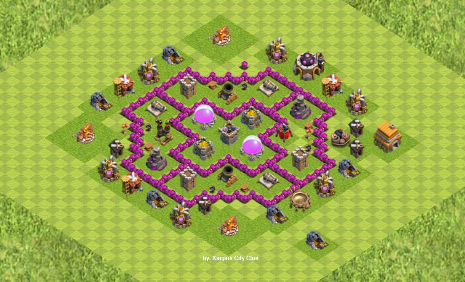 Kumpulan Base Coc Th 6 Terkuat 4