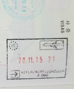 Iceland entry stamp
