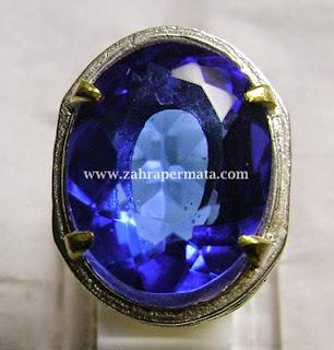 Cincin Batu Permata Blue Obsidian