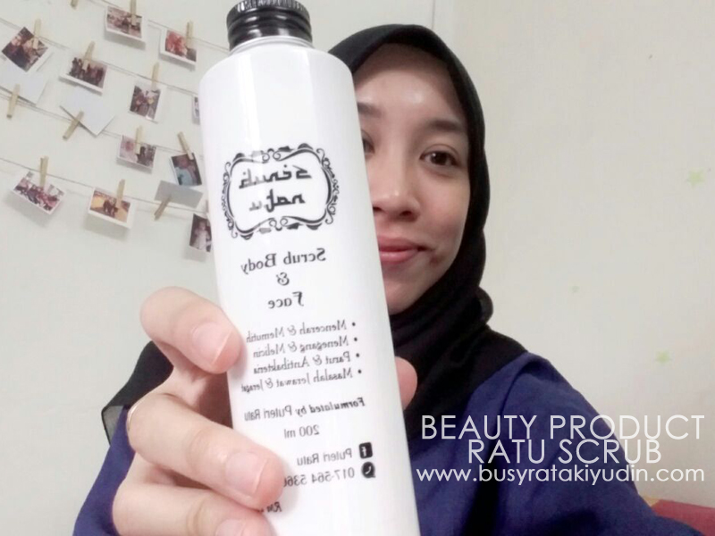 BEAUTY PRODUCT REVIEWS: RATU SCRUB ORGANIC
