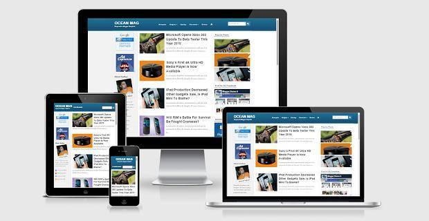 Ocean Mag - Responsive Blogger Template - Technology Blogging