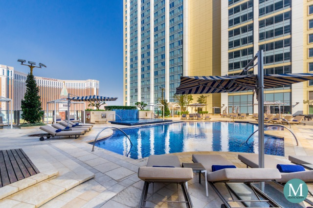 outdoor swimming pool at The St. Regis Macao, Cotai Central