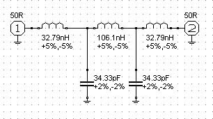 Low pass filter design for 146Mhz ideal for Raspberry Pi