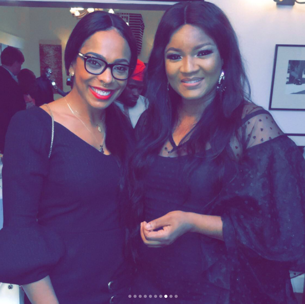 0 Ex BBNaija Housemate, Tboss Pictured With Omotola, Stephanie Linus, Bovi, Iyanya And Falz At The US Consulate