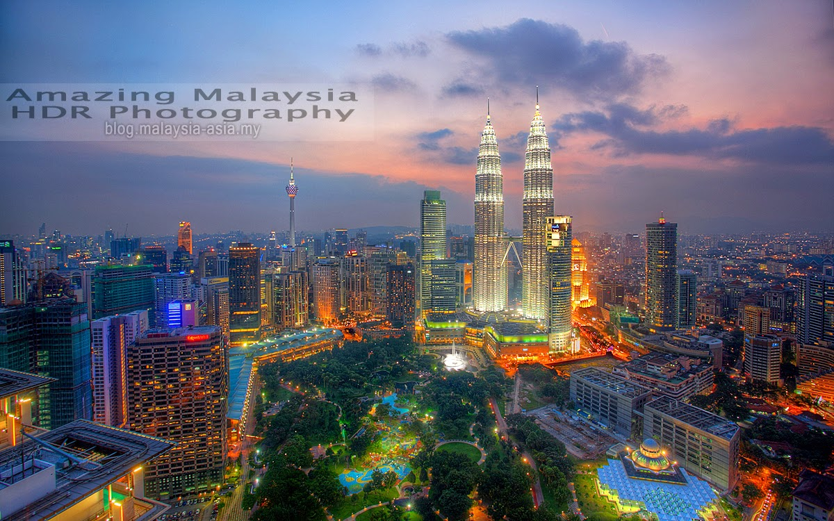 Aerial View of Kuala Lumpur City Centre HDR Photography