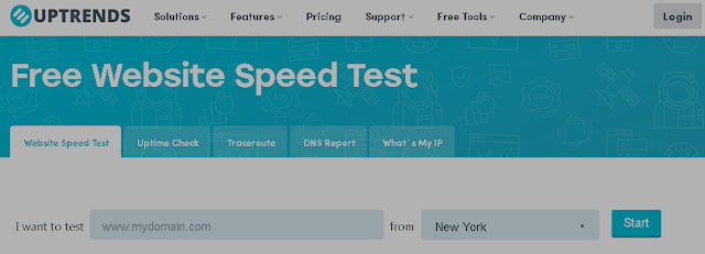 Uptrends Tools Untuk Memeriksa Kecepatan dan Kinerja Blog