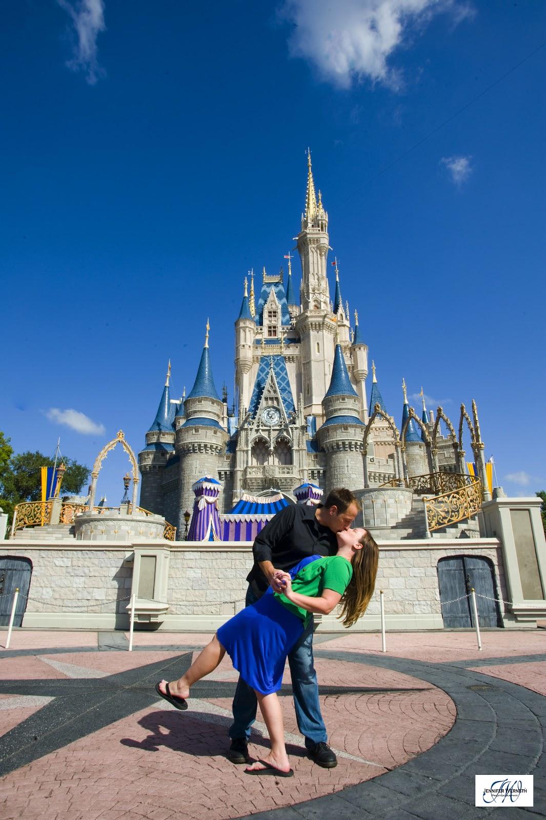 Engagement photos at Walt Disney World Orlando fl