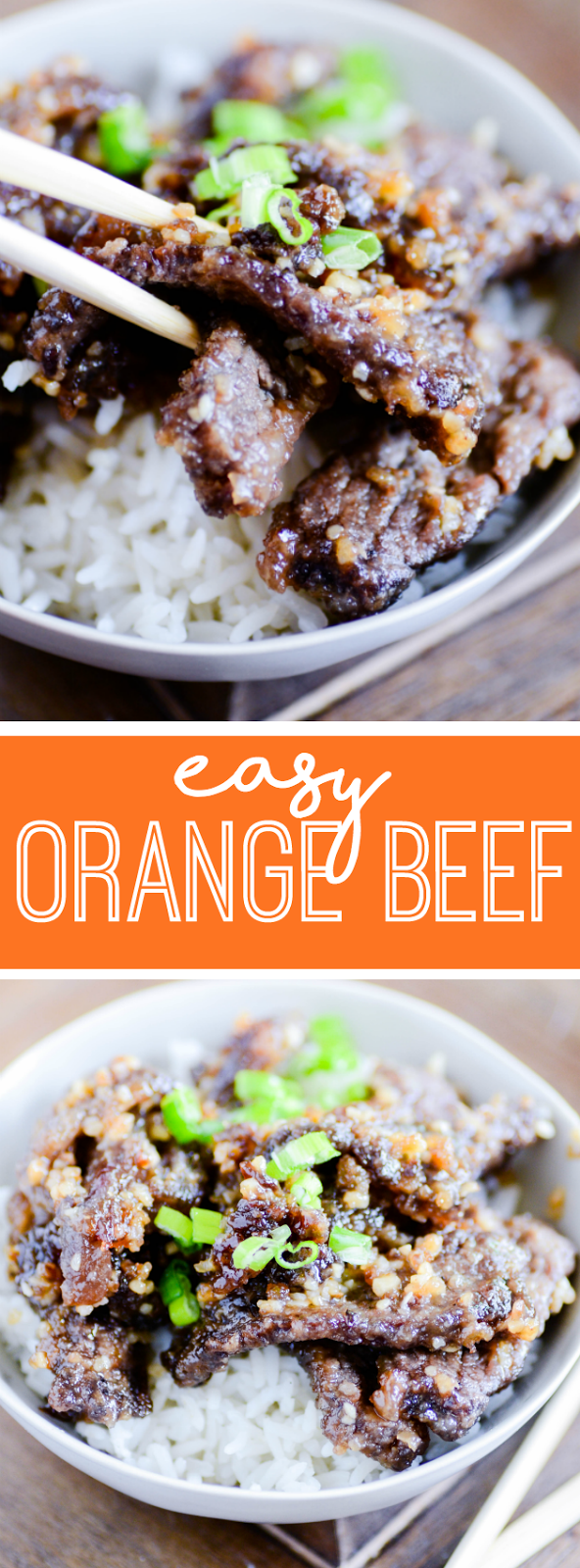Homemade Orange Beef is so easy to make in only 30 minutes!