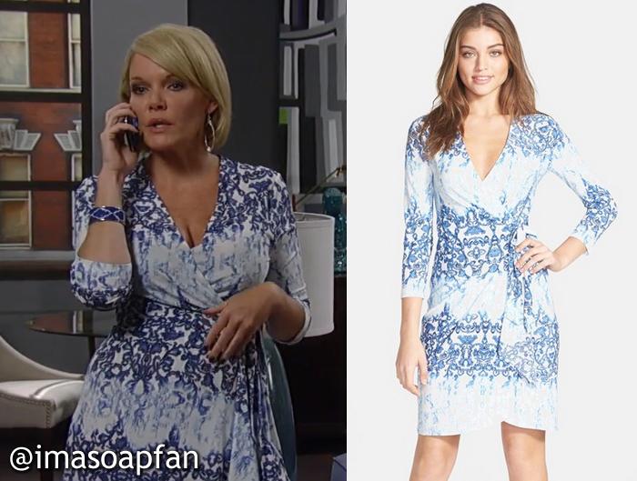 Ava Jerome Printed Wrap Dress BCBG General Hospital