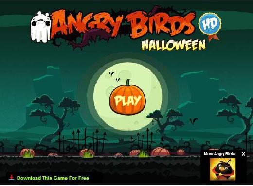 Game Y8 Angry bird Halloween